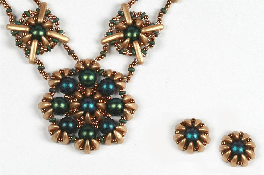 Jens Czechmates Cabochons Beams And Prongs Necklace And Earrings Ig