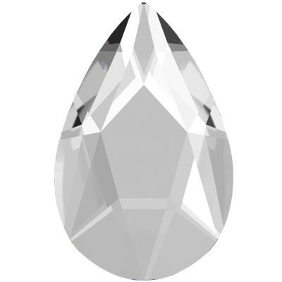 2303 14x9mm 001 HF - Swarovski Pear Flat Back Hotfix - crystal