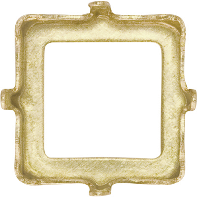 4428/S 6mm UPB - Sew on Settings for Swarovski 4428 6mm - unplated brass