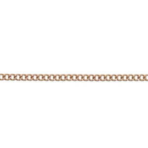JF45-7 - curb chain necklets - rose gold