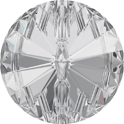 3015 12mm 001 - Swarovski crystal button - crystal