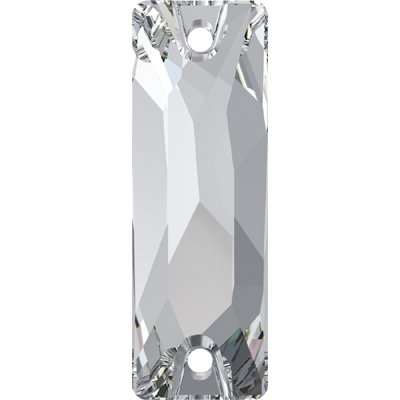 3255 26x8.5mm 001 - Swarovski cosmic baguette sew-on stones - crystal