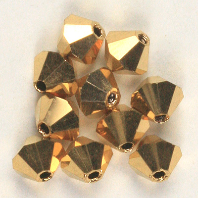 Czech Glass Fire Polished Round Faceted Beads Crystal Aurum Gold 2X full coated
