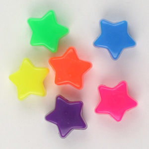 PB-ST P - star pony beads pearl - single colours