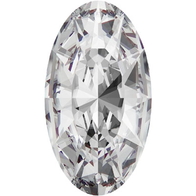 4162 18x9.5mm 001 - Swarovski Elongated oval Fancy stone - crystal