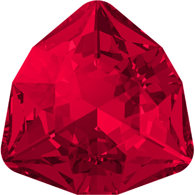 4706 12mm PLAIN 276 - Swarovski trilliant fancy stone - scarlet