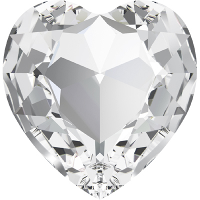 4827 28mm 001 - Swarovski  heart fancy stone - crystal
