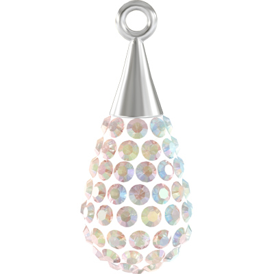 67563 14x5.5mm 001 AB - Pave Drop Pendant Colours - crystal AB