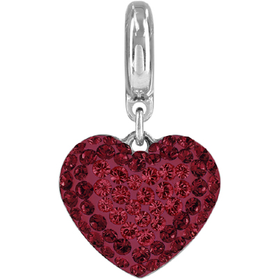 86502 208 227 H - BeCharmed Pave Heart - Light Siam/Siam/Red