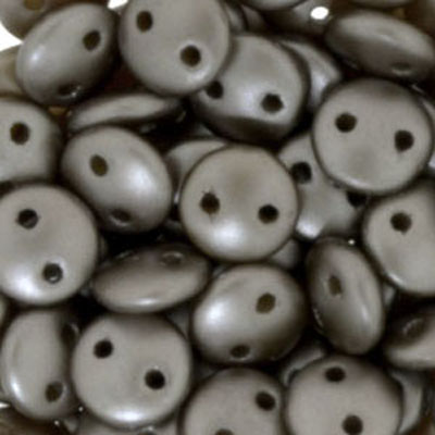 CML-322 - CzechMates lentil beads - pastel light coco brown