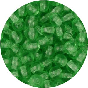 GB3-76 - round pressed glass beads - green