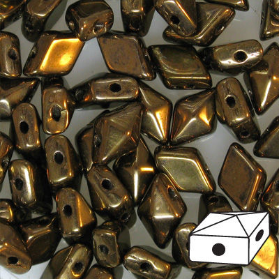 GBDDUO-271 - DiamonDuo beads - jet bronze