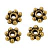 MEB15-1 - snowflake spacer bead - gold