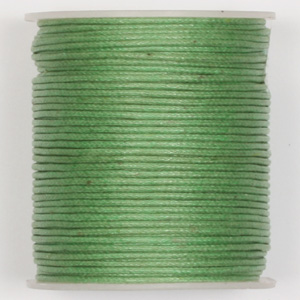 WCC-1 GRN - waxed cotton cord - green