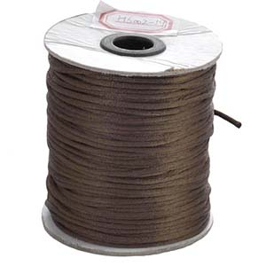 NBC-2 LTBRN - Nylon bead cord - light brown