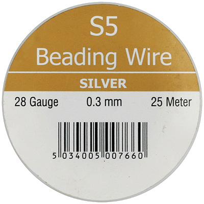 S5 - beading wire - silver colour