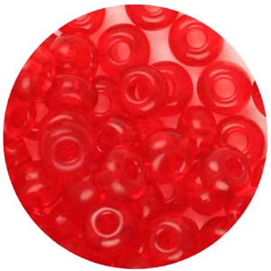 SB6-68 - Czech size 6 seed beads, transparent - red