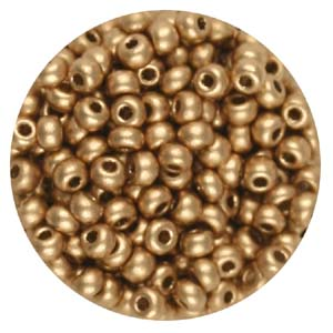 SB10-111 - Preciosa Czech seed beads - gold metallic
