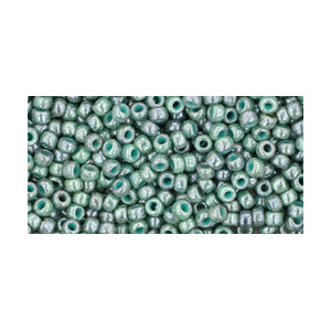 SB11JT-1207 - Toho size 11 seed beads - marbled opaque turquoise/blue