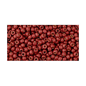 SB11JT-PF564F - Toho size 11 seed beads - permanent finish matt galvanized brick red