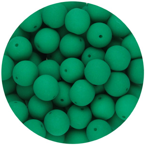 GBSR08-97 - round pressed glass beads - neon green