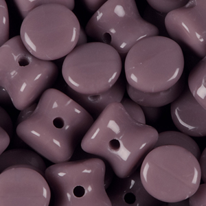 SBPLT-135 - Czech pellet pressed beads - opaque mauve