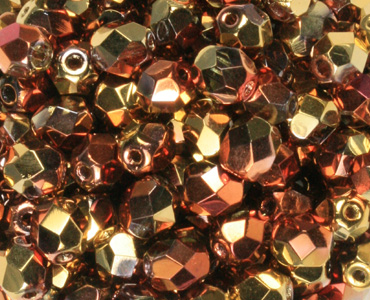 Fine Trade Czech Topaz Faceted drop fire Polished Glass Beads