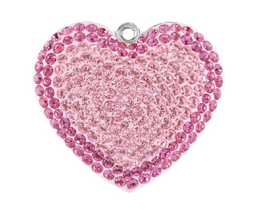 Category 67412 Swarovski Pave Heart Pendants