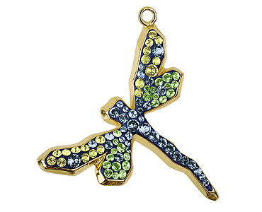 Category 67523 Swarovski Dragonfly Pave Pendants