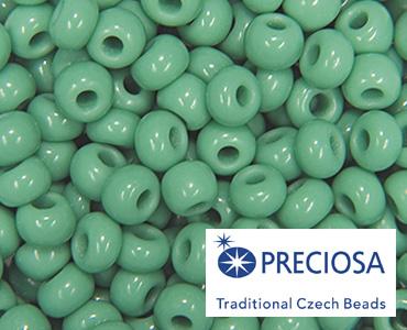 Preciosa Ornela Czech Seed Bead Size 10//0 Deep Turquoise Blue