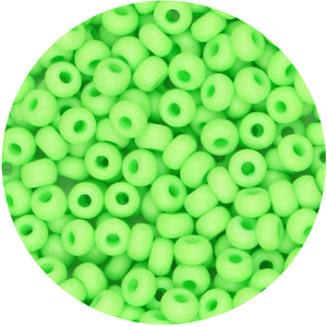 SB8-125 Preciosa Czech seed beads - opaque neon green