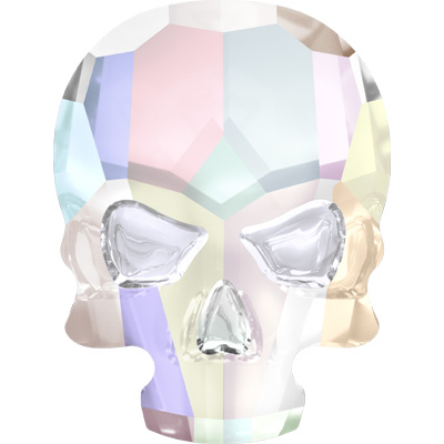 2856 14x10.5mm CET HF - Swarovski Skull Hotfix - Crystal transparent effects