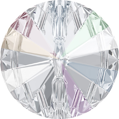 3015 10mm CET - Swarovski crystal button -  crystal transparent colours