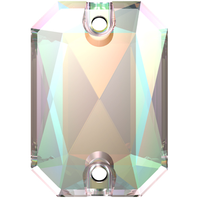 3252 20x14mm CET Swarovski emerald cut sew-on stone - crystal transparent effects