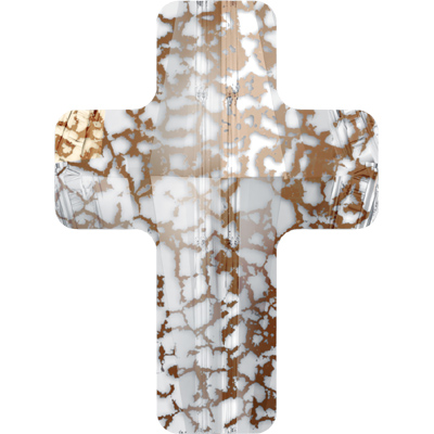 5378 14mm CEP - Swarovski cross bead - crystal patina effects