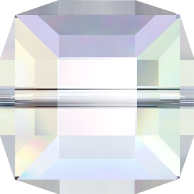 5601 6mm CET - Swarovski cube bead - crystal transparent colours