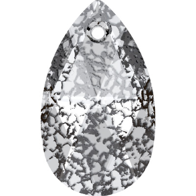 6106 22mm CEP - Swarovski pear shape pendant - crystal patina