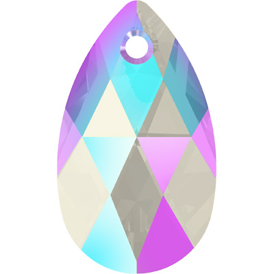 6106 22mm PLAIN SH - Swarovski pear shape pendant - shimmer colours