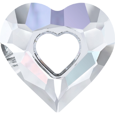 6262 17mm CET - Swarovski miss U heart pendant - crystal transparent colours