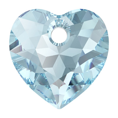 6432 14.5mm PLAIN - Swarovski heart cut pendant - plain colours