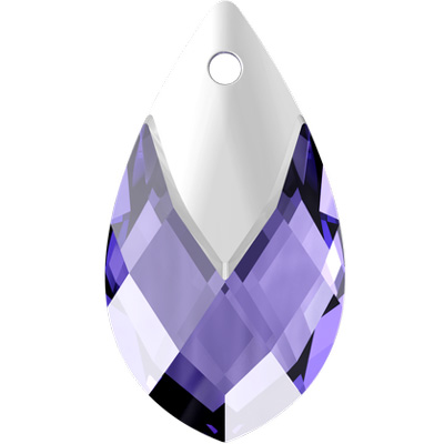 6565 22mm CEM - Swarovski metallic cap pear-shaped pendant - crystal metallic effects