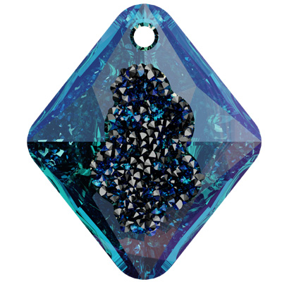 6926 26mm CETT - Swarovski growing crystal rhombus pendant - crystal transparent effects