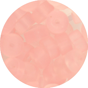 GB245F 2-3 - rondelle pressed frosted glass beads - red & pink