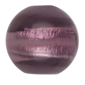 GB270-4 Indian glass lamp bead, silver foiled round - purple