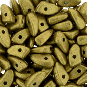 GBPR-614 Prong beads - Saturated Metallic Spicy Mustard