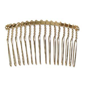 Jf199 1 metal hair combs for jewellery making gold for Metal hair combs for crafts