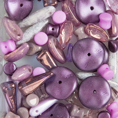 GPBS-5 pressed glass bead special mixes - violet