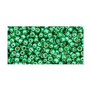 SB11JT-PF588 Toho size 11 seed beads - permanent finish galvanized spring green