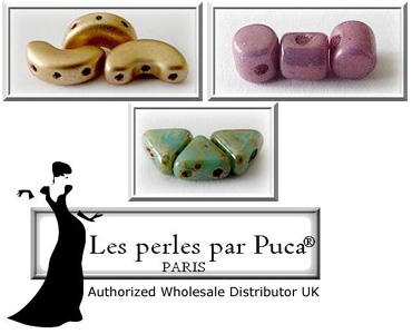 Super Category Czech Glass Beads - Les Perles Par Puca Multi-hole Beads